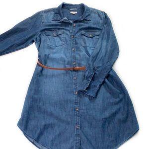 Merona • Belted Denim Shirt Dress